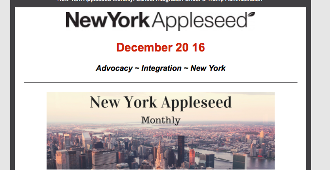 New York Appleseed Monthly – December